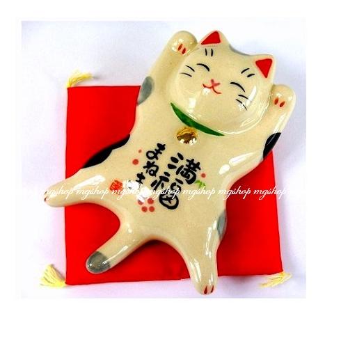 日本原裝/藥師窯系列/滿福招財貓