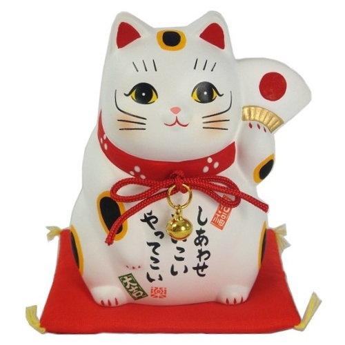 日本製 藥師窯系列 錦彩滿願招財貓7394