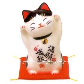 日本原裝 日本製 藥師窯招財貓系列-彩繪滿願成就(小)7745