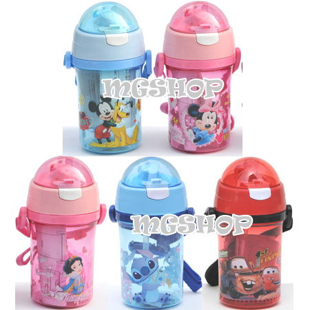 Disney 迪士尼 兒童防漏水壺/吸管水壺400ML(米奇/米妮/公主/史迪奇/cars)單售