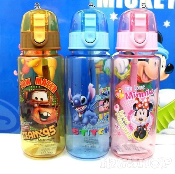 Disney 迪士尼 兒童防漏水壺/運動水壺500ML(米奇/米妮/公主/史迪奇/cars/米菲兔)723單售