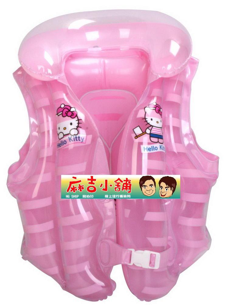 Hello Kitty 凱蒂貓 兒童背心浮圈 游泳圈-(粉色款)單售