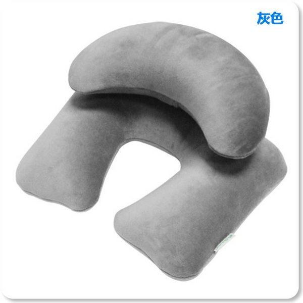 wellhouse天鵝絨子母充氣枕/旅行枕/U型枕 飛機枕 護頸枕