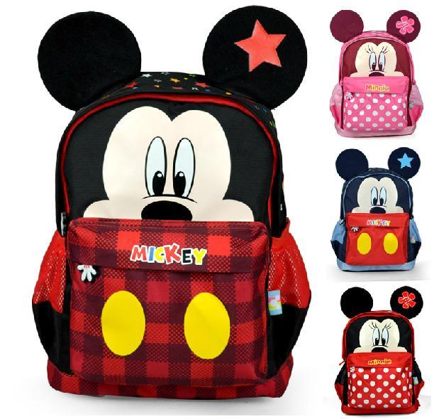 正版Disney 迪士尼 米奇米妮耳朵 幼稚園書包 幼兒後背包-DXMB80015/單售