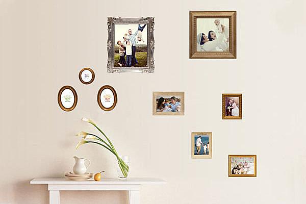 BO雜貨【YP1551】DIY可移動 裝飾組合壁貼 壁貼 創意壁貼 背景貼 相片牆 相框 照片貼