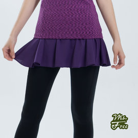 Ms.Free【Light系列城市輕瑜伽】透氣一片式運動短裙 (葡紫)