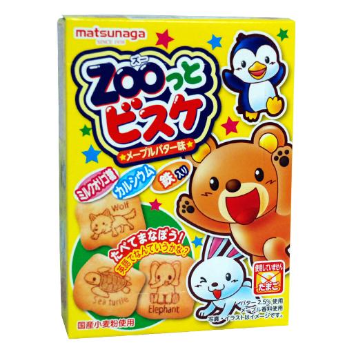 ★衛立兒生活館★日本進口森永 ZOO 動物造型楓糖奶油餅 55g