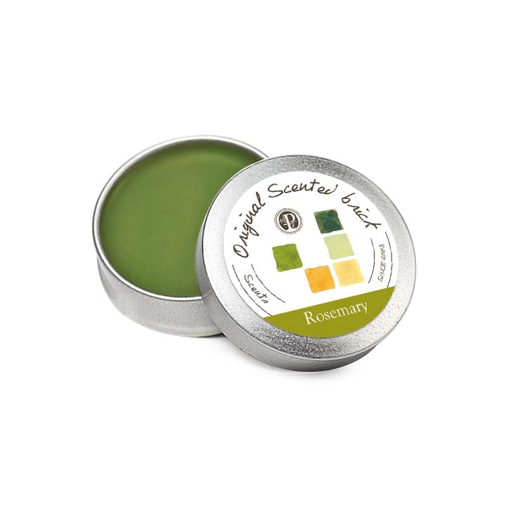 【OP 窩居小徑】Rosemary 迷迭香園 精油芳塊香磚-12±2g 隨身盒,純手工製作