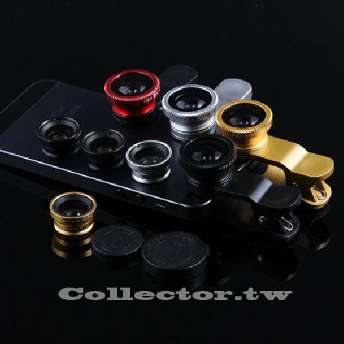 【K14101301】魚眼廣角鏡頭三合一通用夾 自拍神器 手機廣角鏡頭 智慧型手機通用