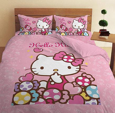 【唯愛日本】13051600001 雙人兩用被6*7-彩虹糖樂園粉 三麗鷗 Hello Kitty 凱蒂貓 寢具用品 正品