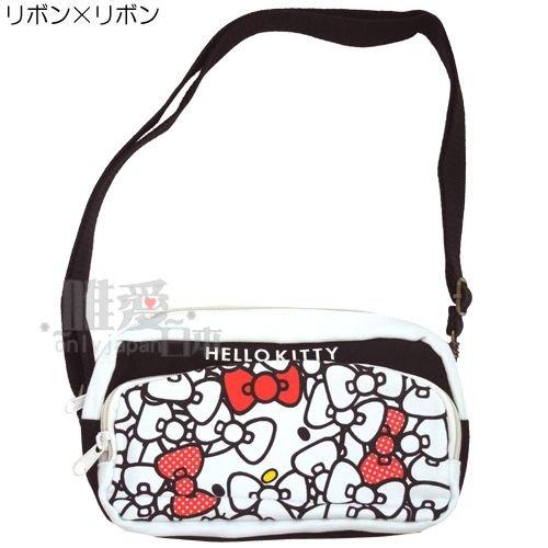 <KT 唯愛日本>12070300007 側背包-多圖紅結白 三麗鷗 Hello Kitty 凱蒂貓 斜背包 方包 正品