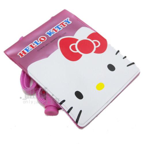 【真愛日本】12070500005 織袋證件套-KT紫 三麗鷗 Hello Kitty 凱蒂貓 名片套 悠遊卡套 正品