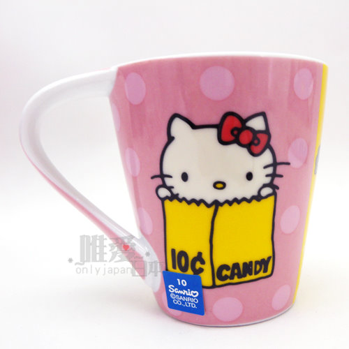 【唯愛日本】13091800023 馬克杯-大象 三麗鷗 Hello Kitty 凱蒂貓 咖啡杯 陶瓷杯 正品
