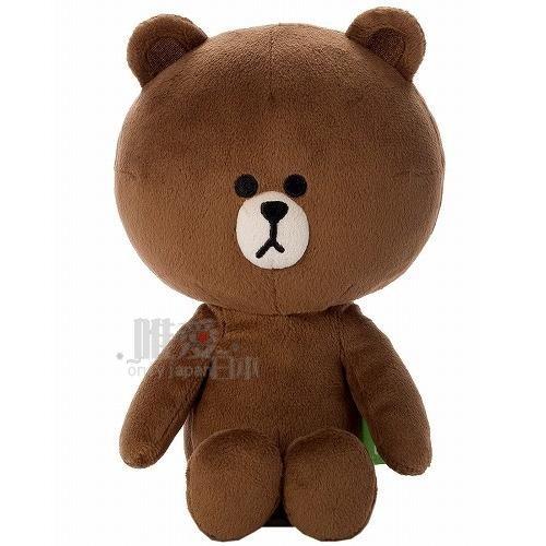 【真愛日本】13091900001 LINE豆豆絨毛娃-熊大 LINE公仔 饅頭人 兔子 熊大 公仔 絨毛娃娃 抱枕