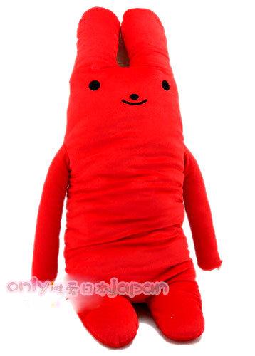 【真愛日本】0020400016 多彩綿綿長抱兔娃娃XL-紅 男朋友抱枕 娃娃 105公分長耳兔