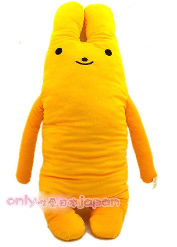 【真愛日本】0020400016 多彩綿綿長抱兔娃娃XL-黃 男朋友抱枕 娃娃 105公分長耳兔