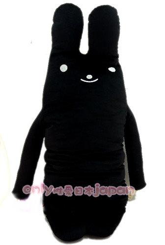 【真愛日本】0020400016 多彩綿綿長抱兔娃娃XL-黑 男朋友抱枕 娃娃 105公分長耳兔