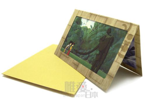<宮崎駿會館>A*11012800029 天空之城 神兵機器人 LAPUDA 小卡片-與神兵 日本帶回