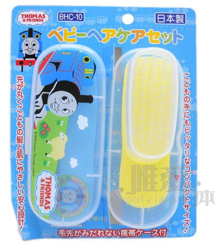 ~*唯愛日本*~C1031800028 THOMAS & FRIENDS 湯瑪士 小火車 幼兒毛髮調理組 梳子 刷子 日本製