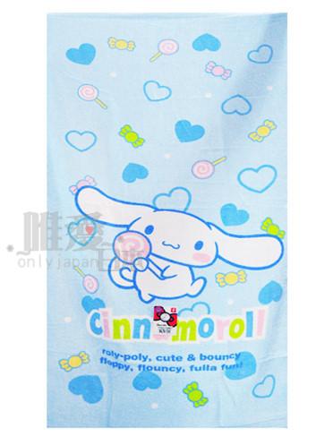 <KT生活館>A11070100008 三麗鷗 Hello Kitty 大耳狗與棒棒糖-藍 海灘巾 大毛巾 沙灘台灣製