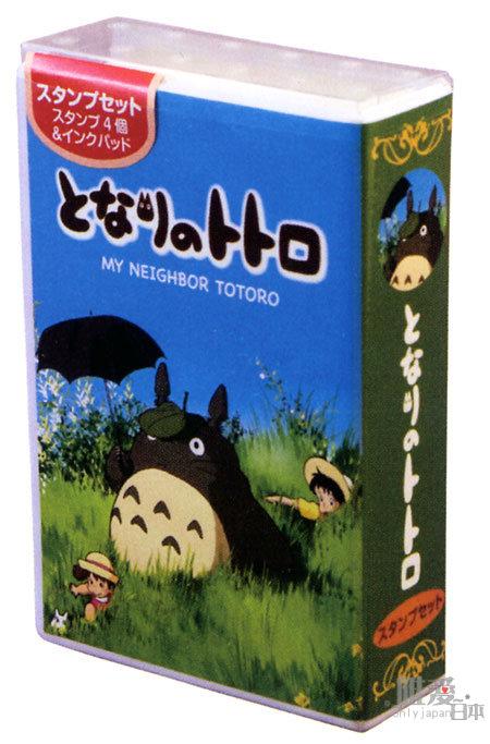<宮崎駿會館>A 11102900037 造型盒木製印章-散步 龍貓 TOTORO 豆豆龍 大龍貓小龍貓日本製