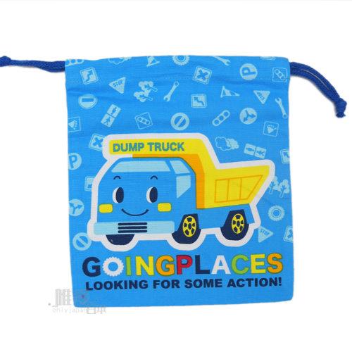< 唯愛日本>12102000019 束口袋-車車藍 三麗鷗 Hello Kitty RB車車 收納袋 化妝包 正品