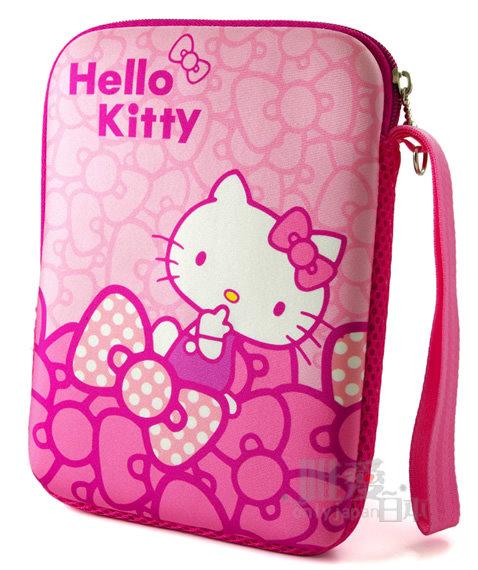 【唯愛日本】12112800002 筆電保護套-蝴蝶結粉7吋 三麗鷗 Hello Kitty 凱蒂貓 防震套 防塵套