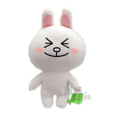 【唯愛日本】14061800006 LINE站姿娃35CM-兔子瞇眼 LINE公仔 饅頭人兔子熊大 娃娃 玩偶