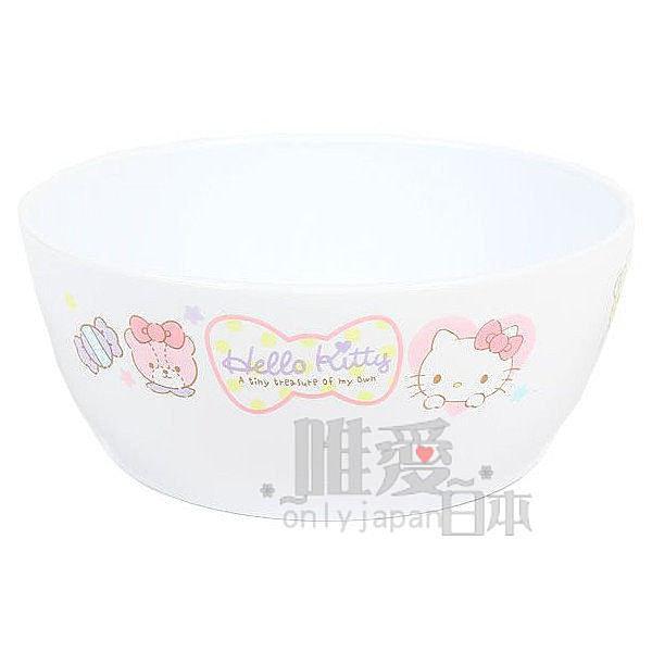 【唯愛日本】14062500049 幼兒湯碗-愛心點心白 三麗鷗 Hello Kitty 凱蒂貓 碗盤 飯碗 食器