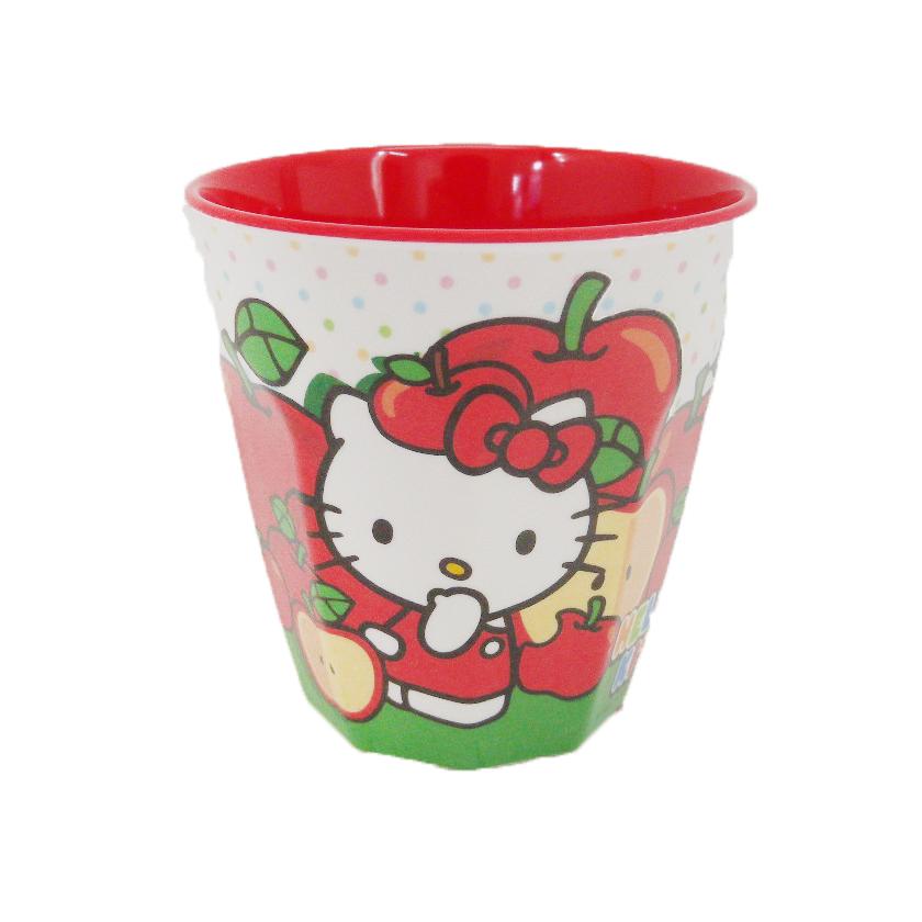 【唯愛日本】14090900019 美耐皿水杯-蘋果紅 三麗鷗 Hello Kitty 凱蒂貓 杯子