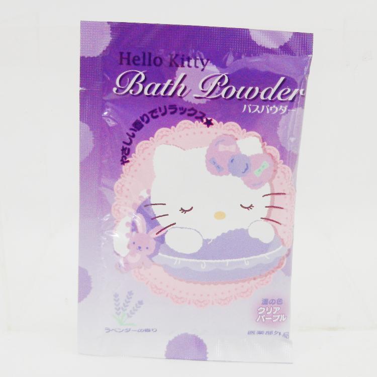 【唯愛日本】14092600039 入浴劑-花香紫 三麗鷗 Hello Kitty 凱蒂貓 洗澡 泡澡