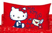 【唯愛日本】14100100017 童枕-我的遊戲房紅 三麗鷗 Hello Kitty 凱蒂貓 枕頭 寢具
