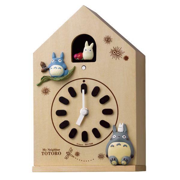 【真愛日本】14101000028 房屋小白咕咕鐘-灰龍貓 龍貓 TOTORO 豆豆龍 時鐘 裝飾 飾品