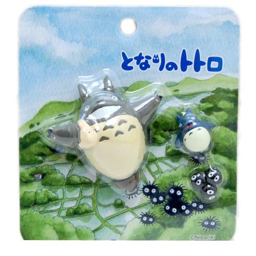 【真愛日本】14101000031 限定3入造型磁鐵-乘風出發 龍貓 TOTORO 豆豆龍 預購