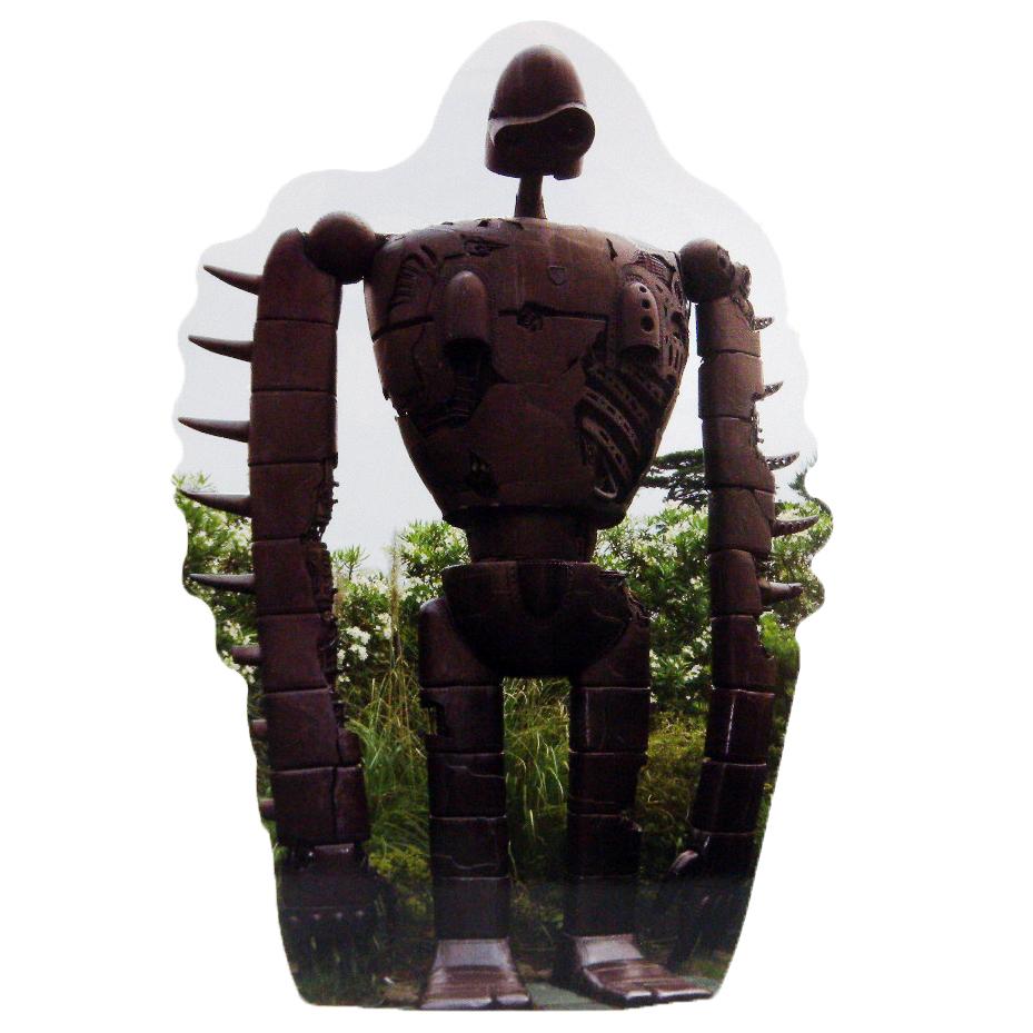 ﹝宮崎駿會館﹞14101300007 美術館紀念寫真明信片-神兵 守城機器人 LAPUDA 天空之城 卡片 造型明信片