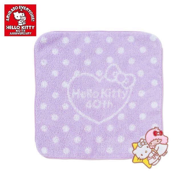 【真愛日本】14101700037 40th純棉方巾-KT擁抱TS三麗鷗 Hello Kitty 凱蒂貓 小毛巾 手帕