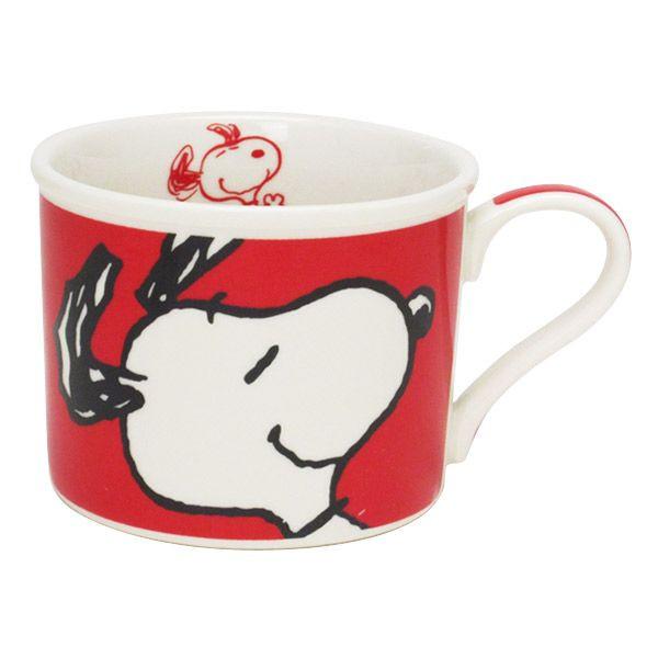 【唯愛日本】14102200005 馬克杯-SN大臉紅 史奴比 史努比 SNOOPY 杯子 茶杯 茶具 陶瓷杯