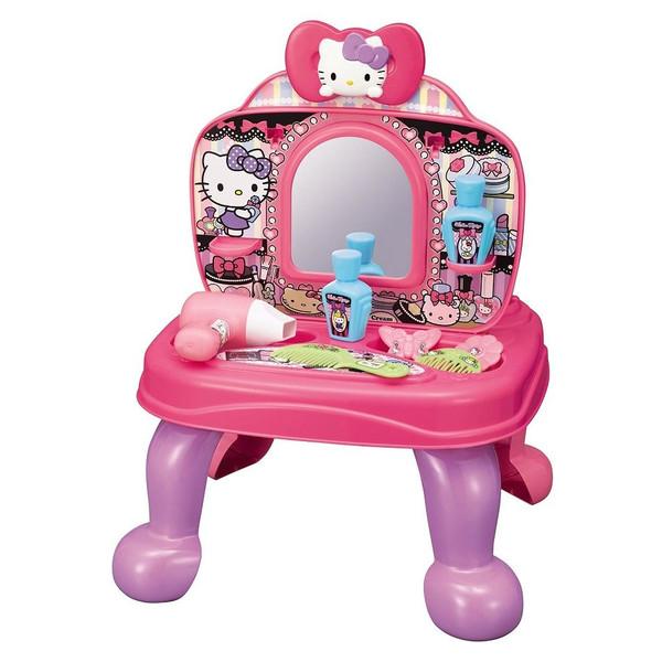 【唯愛日本】14103100001 梳妝廚房兩用玩具組 三麗鷗 Hello Kitty 凱蒂貓 兒童 童玩 梳妝台 廚房 玩具