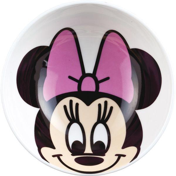 【唯愛日本】15010800016 角色陶瓷碗-米妮 迪士尼 米老鼠米奇 米妮  餐具 正品