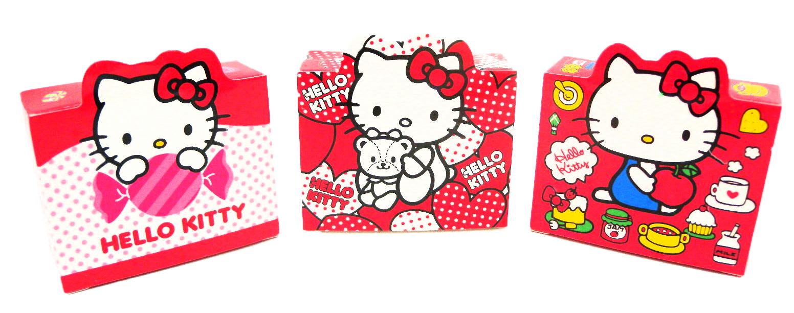 【唯愛日本】15011000007 二代盒裝貼紙-3款 三麗鷗 Hello Kitty 凱蒂貓 文具 隨機出貨 正品