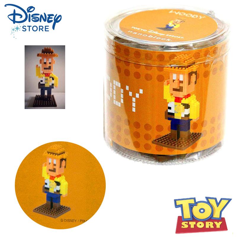 【唯愛日本】15020200017 迷你積木-胡迪 迪士尼 玩具總動員 TOY  正品 玩具 日本帶回 預購