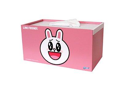 【唯愛日本】15020500001木製面紙盒-兔兔 LINE公仔 饅頭人兔子熊大 居家 正品