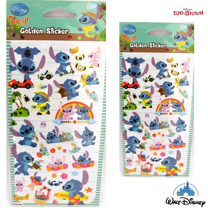 【唯愛日本】15021400013 彩色燙金貼紙-史迪奇 迪士尼 星際寶貝 史迪奇 文具 正品 限量