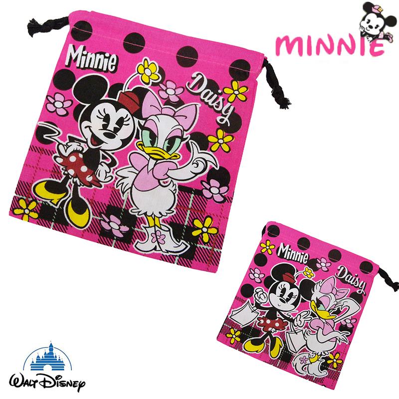 【唯愛日本】15021400049 束口袋S-米妮黛西 迪士尼 米老鼠米奇 米妮 收納袋 正品 限量