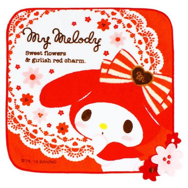 【唯愛日本】15022600051 純棉方巾-40th紀念GRED 三麗鷗家族 Melody 美樂蒂 清潔 居家 正品 限量