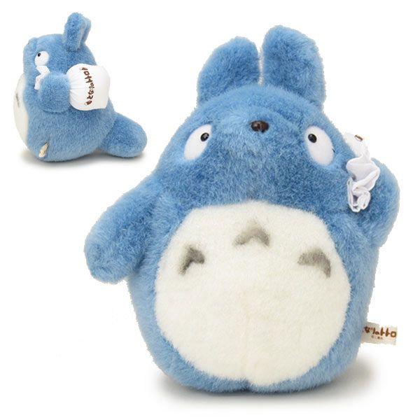 【真愛日本】15031100010經典絨毛娃S-中龍貓藍拿包袱 龍貓 TOTORO 豆豆龍 娃娃 玩偶 正品 限量