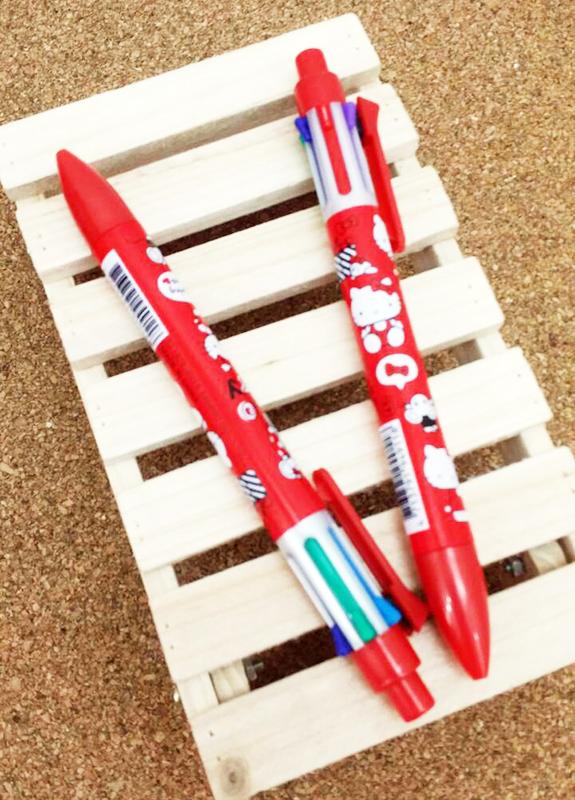 【真愛日本】15031400027 6色筆2入-愛心坐姿紅衣 三麗鷗 Hello Kitty 凱蒂貓 文具 書寫 原子筆 正品 限量