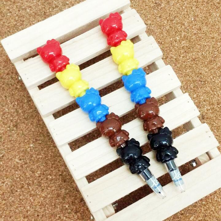 【真愛日本】15031400028 三代玩偶彩虹筆2入 三麗鷗 Hello Kitty 凱蒂貓 文具 繪圖 正品 限量