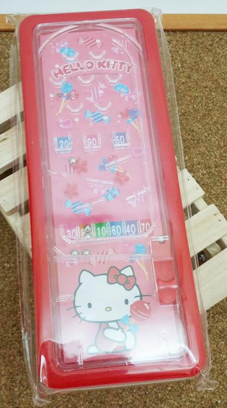 【真愛日本】15031400030 彈珠檯鐵筆盒-紅  三麗鷗 Hello Kitty 凱蒂貓 文具 收納盒 正品