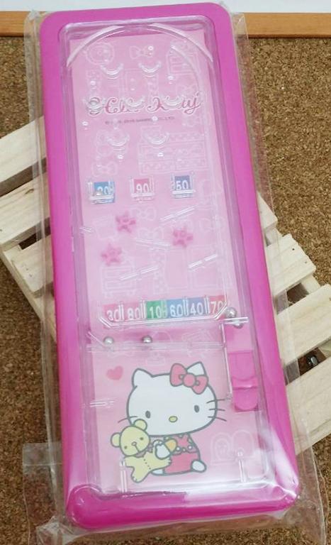 【真愛日本】15031400031 彈珠檯鐵筆盒-桃 三麗鷗 Hello Kitty 凱蒂貓 文具 收納盒 正品